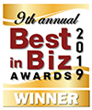 Best in Biz Awards 2019 gold winner logo
