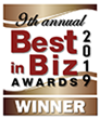 Best in Biz Awards 2019 bronze winner logo