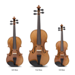 Yamaha Fractional Sized YVN Model 3 Violins Complete Award-Winning Family