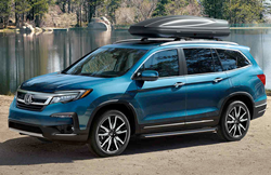 2020 Honda Pilot by the lake