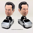 Custom Bobble Has Recently Launched the First Customizable Bobblehead Riding on A Cybertruck