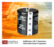 Cornell Dubilier's New 8,000 Hour, 105° C Aluminum Electrolytic Snap-In Capacitors