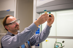 Professor Timko is combining his research on food waste with municipal green waste to create a a liquid biofuel.