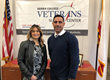"Student Serv. Tech. Joanne Balay Barbour and SST/Veteran Services Counseling Jarrett ""J"" Barrett, pose at the Veterans Success Center at Sierra College in Rocklin, California."