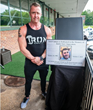 Arthur Imperatore Jr., partner at Iron Culture, honors late son during the gym's grand opening in June 2019.