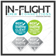 In-Flight Crew Connections Wins ClearlyRated's 2020 Best of Staffing Client and Talent Awards for Seventh Consecutive Year