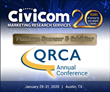 Platinum Sponsor Civicom Marketing Research Services Exhibits at 2020 QRCA Annual Conference