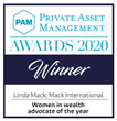 Linda Mack Named Women in Wealth Advocate of the Year for the Second Consecutive Time at the 2020 Private Asset Management Awards