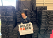 Hunter Smalling after Building Hundreds of Relief Beds