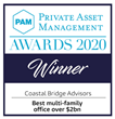 Coastal Bridge Advisors Wins Prominent Industry Award for Best Multi-Family Office Over $2 Billion in Client Assets