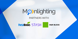 Moonlighting partners with FreshBooks, H&R Block, and Stash