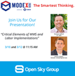 "Open Sky Group Presents ""Critical Elements of WMS and Labor Implementations"" at MODEX 2020 Atlanta"