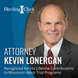 Attorney Kevin Lonergan Recognized for His Lifetime Contributions to Wisconsin Mock Trial Programs