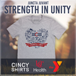 "Cincy Shirts and UC Health partner on - ""Strength in Unity"" t-shirt to benefit the YMCA of Cincinnati Emergency Response Fund"