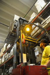 eFulfillment Service forklift raising inventory