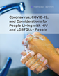 Fenway Health policy brief outlines impact of COVID-19 on people living with HIV and LGBTQIA+ people