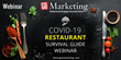 GoMarketing's Richard Uzelac Offers Free COVID-19 Restaurant Survival Guide Webinar March 30th 10am PST