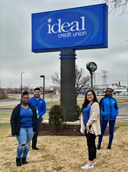 Branch Manager Hector Perez (back left) and his team, Stacy McClinton, Litaize Sonnetag and Hnub Ci Vang, deliver quality member service and build meaningful relationships in the community.