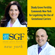 Shady Grove Fertility (SGF) Commends New York State for Legalizing the Use of Gestational Carriers