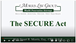 Morris Law Group, Secure Act, tax planning, Stuart Morris