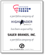 BlackArch Partners Advises Highlander Partners on Sale of Chicago Custom Foods to Sauer Brands