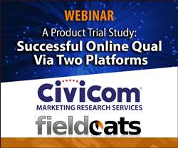Civicom Marketing Research Services and Fieldcats conduct a joint webinar on successful online qualitative research using two platforms