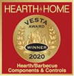 HPC Fire Inspired's new Universal Gas Orifice which allows one orifice to handle either Natural Gas (NG) or Liquid Propane (LP) won the coveted VESTA Award for Hearth/Barbeque Components & Controls.