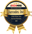 Barcodes, Inc. Named Top 20 Best Retail Tech Provider by MyTechMag