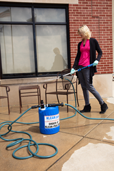 KLEAN/pak disinfects patio furniture