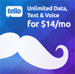 Unlimited for Dad, from Tello Mobile: Unlimited data, talk & text for just $14/mo