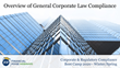 "Financial Poise™ Announces ""Overview of General Corporate Law Compliance"" a New Webinar Premiering July 22nd at 2:00 PM CST through West LegalEdcenter™"