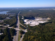 View of Triangle Quarry, I40 and Lake Crabtree County Park. The proposed new quarry would be located to the west leaving Crabtree Creek suspended between two 400 foot deep pits.