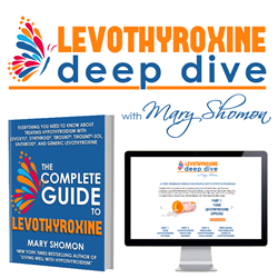 The free Levothyroxine Deep Dive program features three video webinars, a detailed online guide, and a book