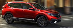 2020 Honda CR-V Touring red exterior passenger side front driving