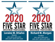 Morgan and DiSalvo, P.C., Partners Richard M. Morgan and Loraine M. DiSalvo Named Five Star Investment Professionals for Ninth Consecutive Year
