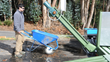 Hydro Engineering, Inc. Drag Conveyor attachment for the Hydropad wash rack system