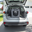 PortablePET SoftCrate Zipped Up in an SUV with a dog