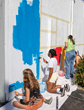 """Our RAD Wall"" is a place for young artists to practice their mural painting skills in a large format and in a public place."