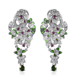 Flower drop earrings can be worn as studs or dangle earrings.