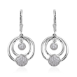 Silver earrings that can be worn at three different lengths.