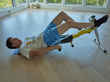 New Excy Hang On Bar adds intense total body cardio and strength training from a supine cycling position to open up broader access to quality exercises while lying down
