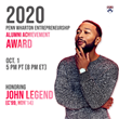 Venture Lab to Honor John Legend with Penn Wharton Entrepreneurship 2020 Alumni Achievement Award at October 1 Livestream Event