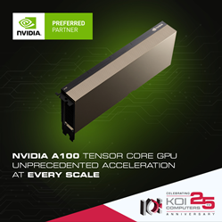 NVIDIA A100 and Koi Computers Servers, Clusters