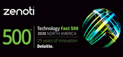 Zenoti Ranked as the 316th Fastest-Growing Company in North America on Deloitte's 2020 Technology Fast 500™