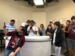 Students from Round Rock ISD touring the Shop LC studio during 2019.