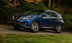 2017 Nissan Murano driving in woods