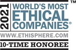 World's Most Ethical Companies 10 time winner logo