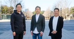Shinji Asada of One Capital, Isshu Rakusai of Nota, and Takuya Hosomura of Salesforce Ventures. (Pictured from left to right.)