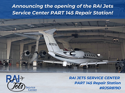 New RAI Jets Service Center Part 145 Repair Station operates in tandem with jet charter company RAI Jets LLC at KAZO and KIRS