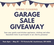 Canfield Rotary Club partners with Sam Boak of Boak & Sons for Spring Cleaning Garage Sale Giveaway